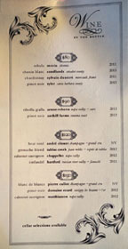 Arc Food & Libations Wine List
