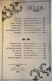 Arc Food & Libations Beer List