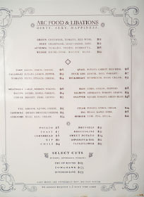 Arc Food & Libations Menu