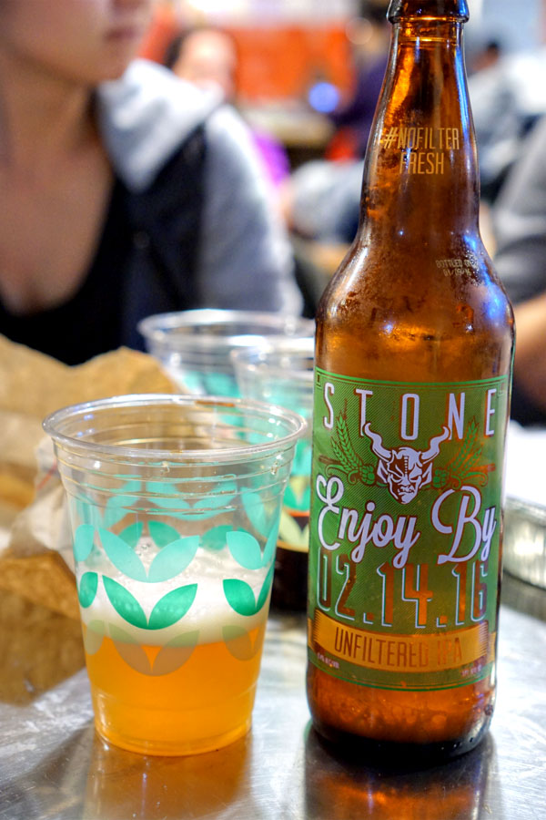 Stone Enjoy By 02.14.16 Unfiltered IPA