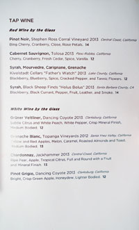 The Bellwether Wines by the Glass List