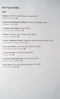 The Bellwether Wine List