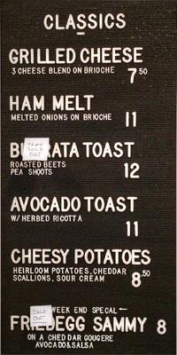 DTLA Cheese Menu - Classics