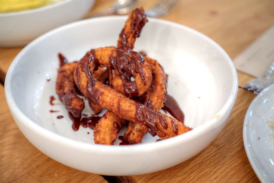 churros with spiced chocolate