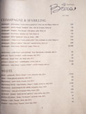 Officine Brera Wine List: Champagne & Sparkling / White