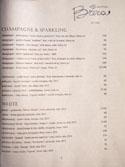 Officine Brera Wine List: Champagne & Sparkling / White
