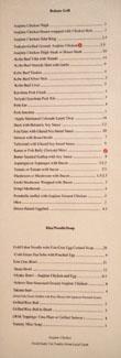 Raku Menu: Robata Grill, Rice/Noodle/Soup