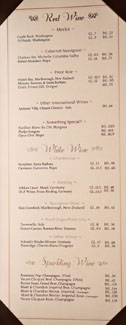 Raku Wine List