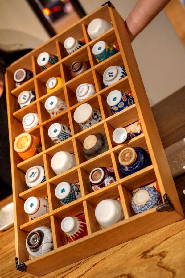 Raku Sake Cup Selection