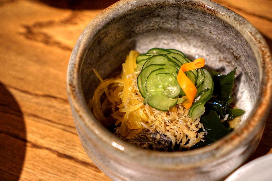 Sunomono-Vinegary Cucumber and Seaweed