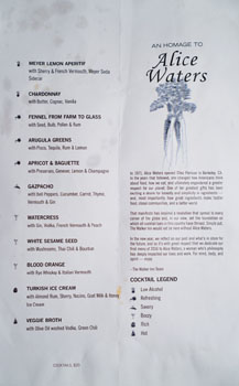 The Walker Inn Cocktail Menu: Alice Waters