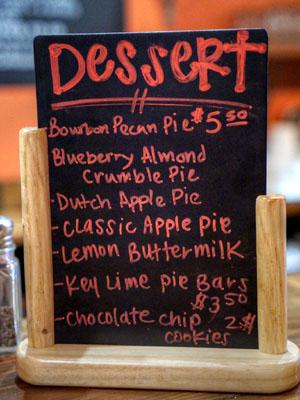 Max City BBQ Dessert Menu