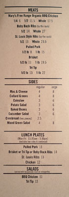 Max City BBQ Menu: Meats | Sides | Lunch Plates | Salads