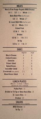 Max City BBQ Menu: Meats | Sides | Lunch Plates | Salads