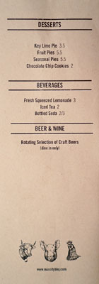 Max City BBQ Menu: Desserts | Beverages | Beer & Wine