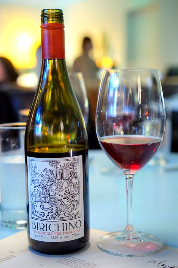Pinot Noir, Birichino 'Saint Georges', Central Coast 2014