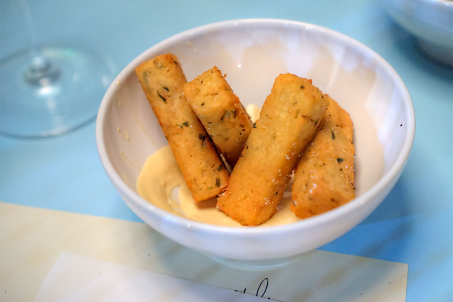 chickpea fries with pickled chile