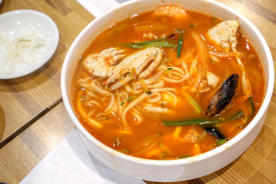 Spicy Seafood Knifecut Noodle Soup