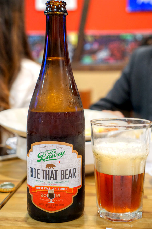 2016 The Bruery Ride That Bear