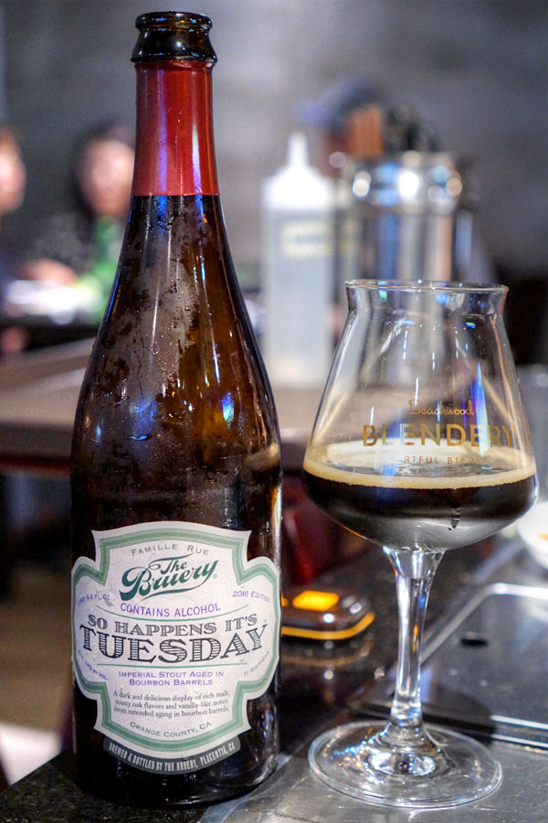 2016 The Bruery So Happens It's Tuesday