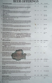 Firestone Walker Propagator Beer List