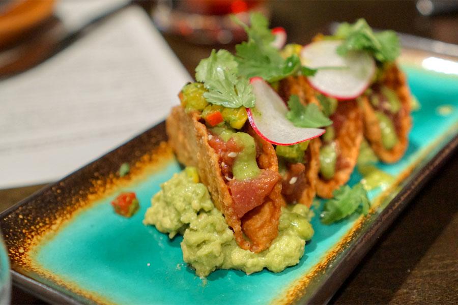 Tuna Tartar Tacos