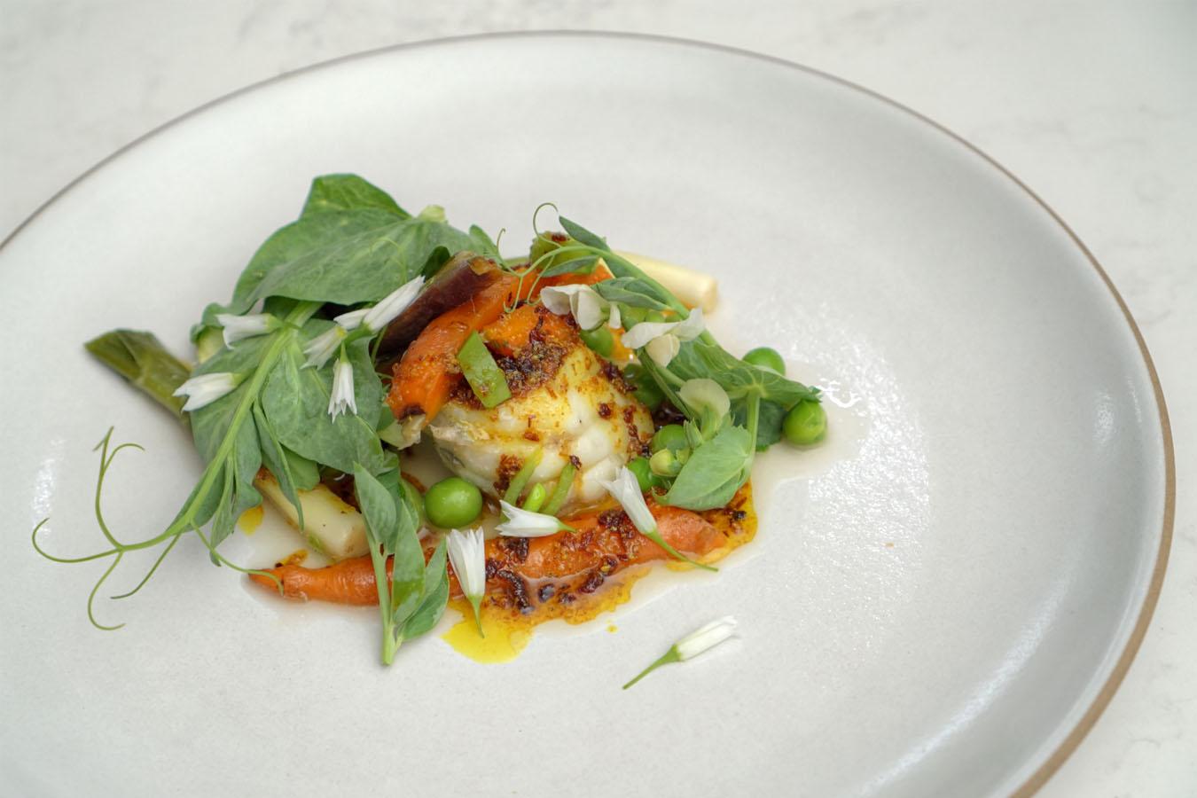 monkfish, légumes de la jardinière, vadouvan