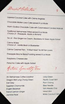 Crustacean Dessert Menu