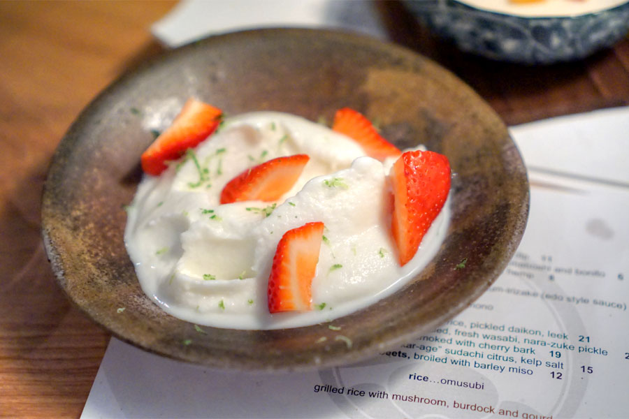 koji (r)ice cream, strawberry & elderflower