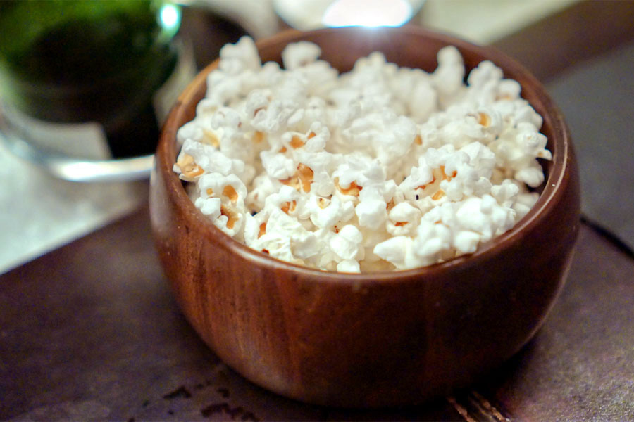 Coconut Oil-Sea Salt Popcorn