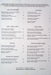 Baldoria Beer List