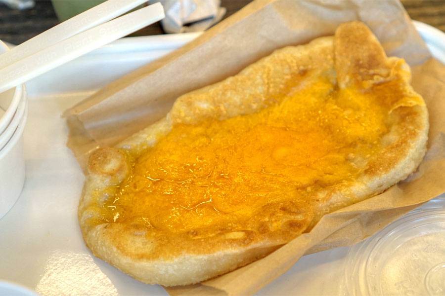 Norma's Flat Bread Cheese Toast