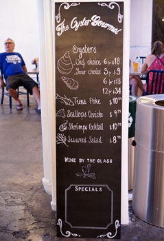 The Oyster Gourmet Menu