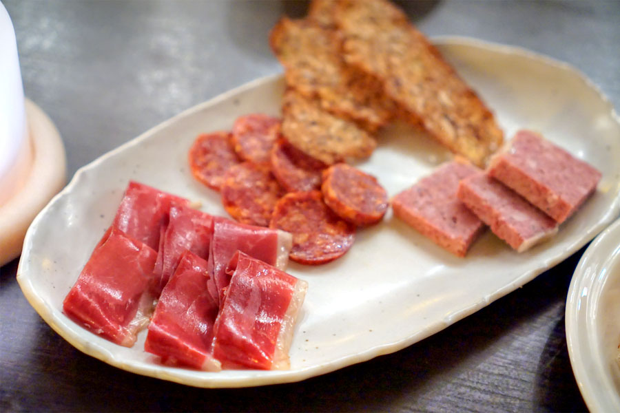 'First Bites' | Duck Speck, Spanish Chorizo, Pork and Liver Terrine