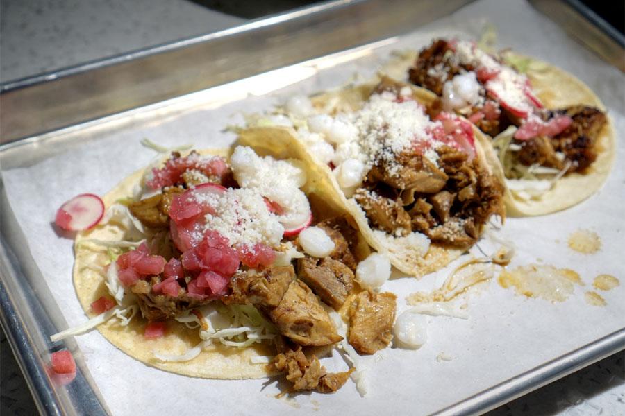 Pozole Tacos