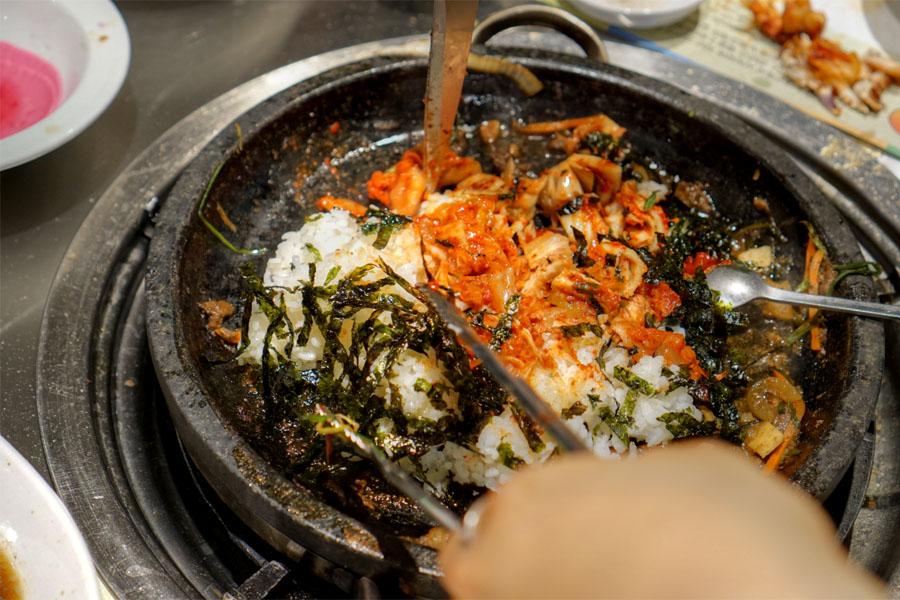 Kimchi Bokkeumbap (Mixing)