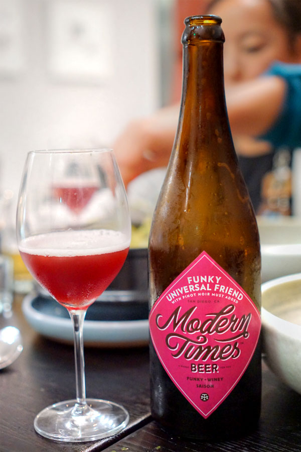 2015 Modern Times Funky Universal Friend with Pinot Noir Must