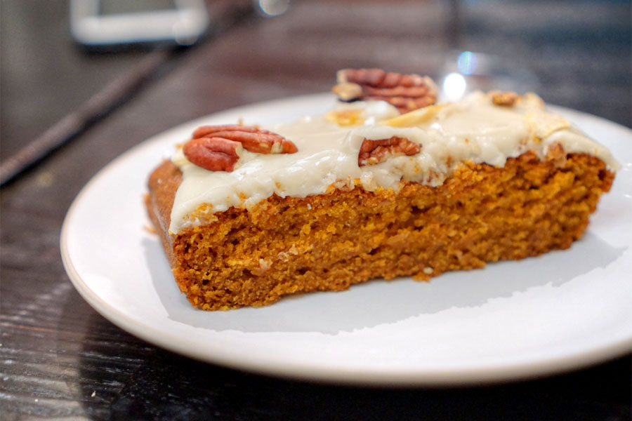 Carrot cake with burnt orange