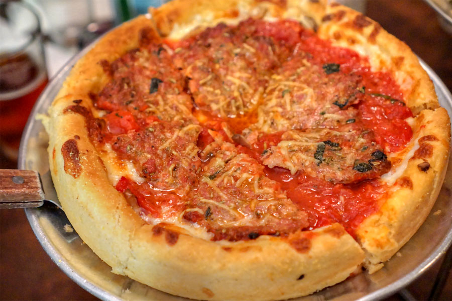Small Traditional Deep Dish Pizza