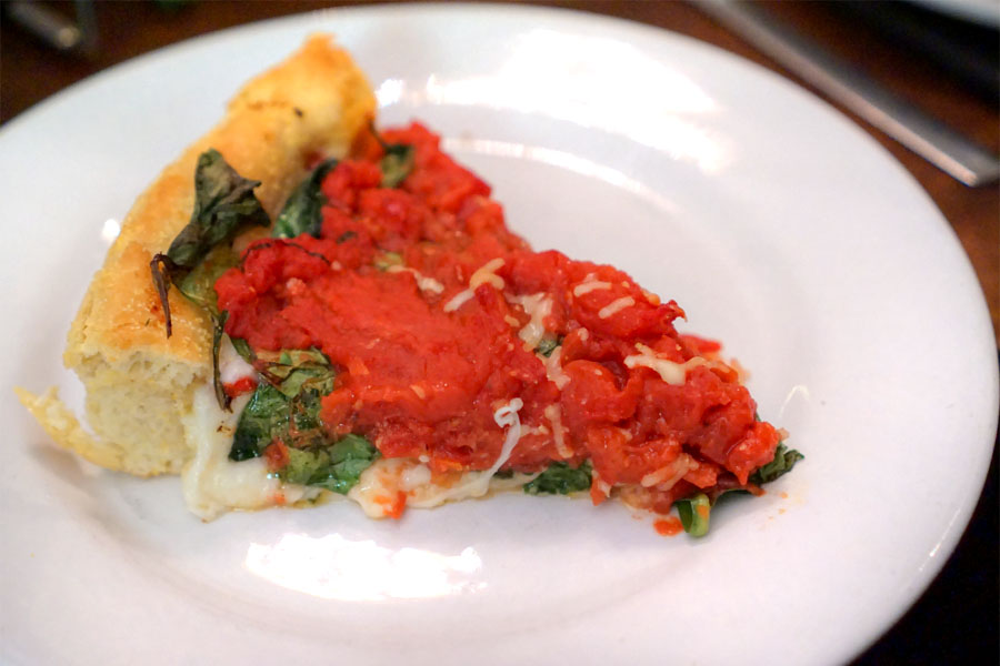 Large California Veggie Deep Dish Pizza (Slice)
