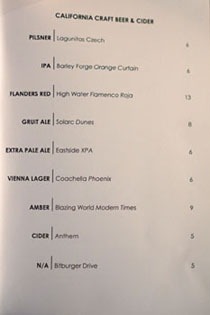 71Above Beer List