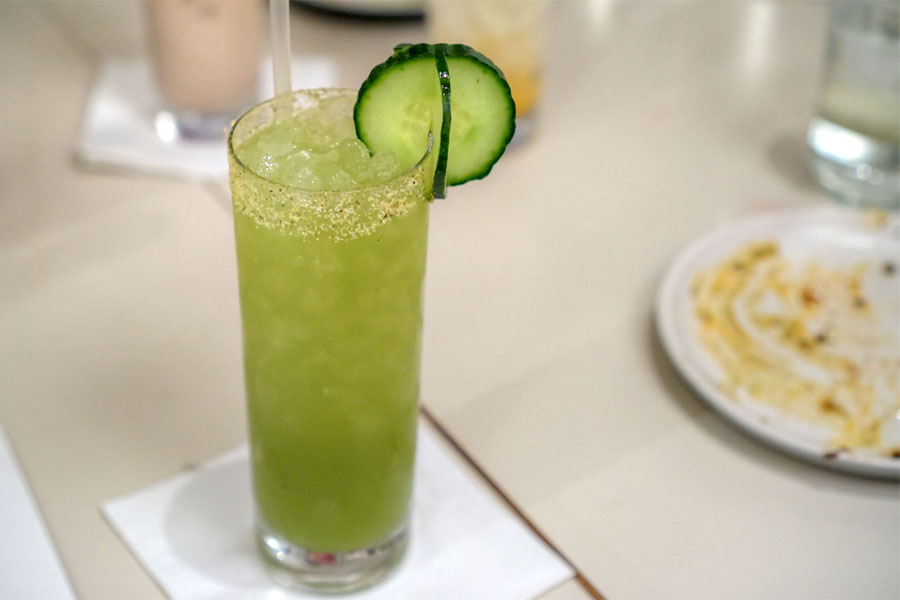 Agua Fresca - cucumber, mint, green apple, salted kaffir rim