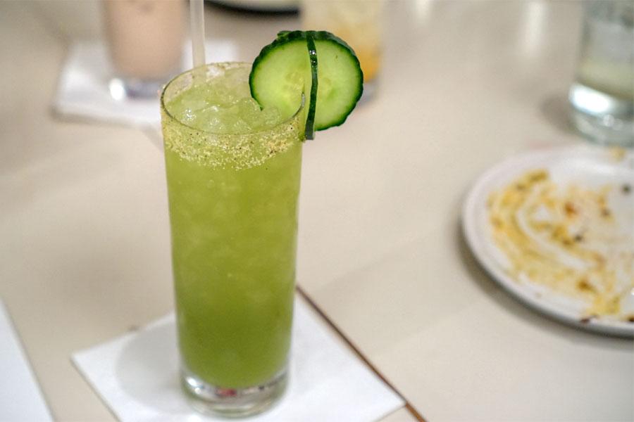 Agua Fresca - cucumber, mint, green apple, salted kaffir rim