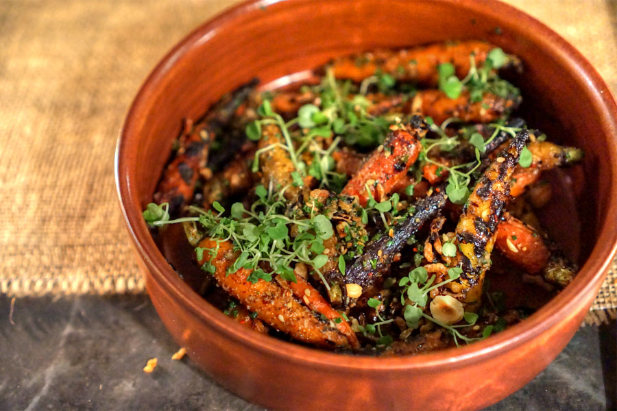coriander roasted carrots