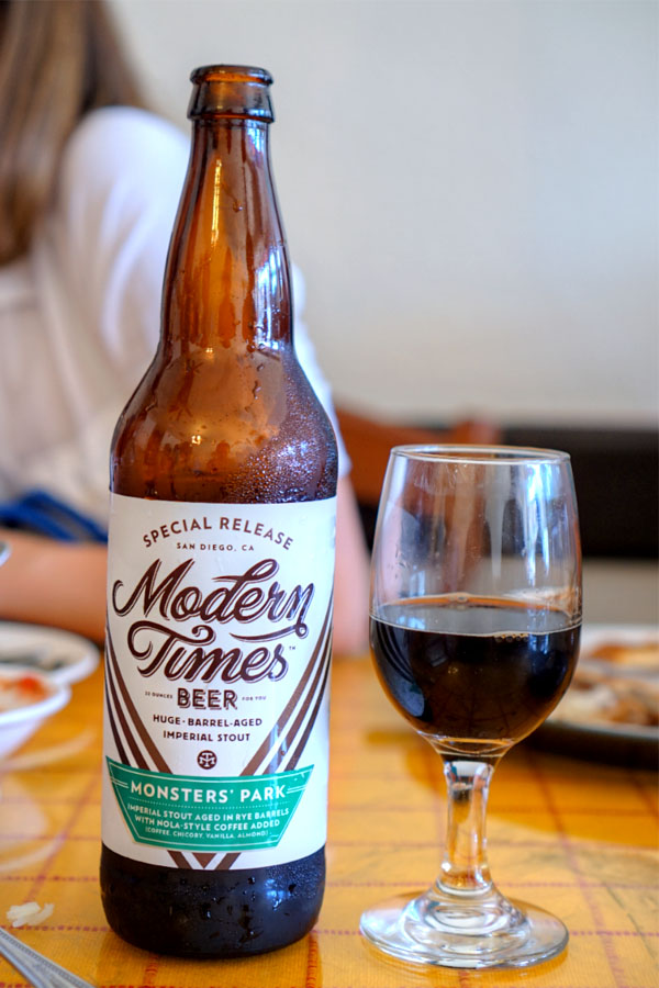 2016 Modern Times Monsters' Park Aged in Rye Barrels with NOLA-Style Coffee