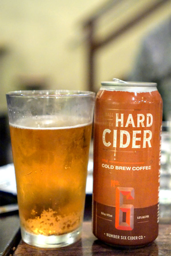 Cold Brew Coffee Hard Cider, No. 6 Hard Cider Co, WA.