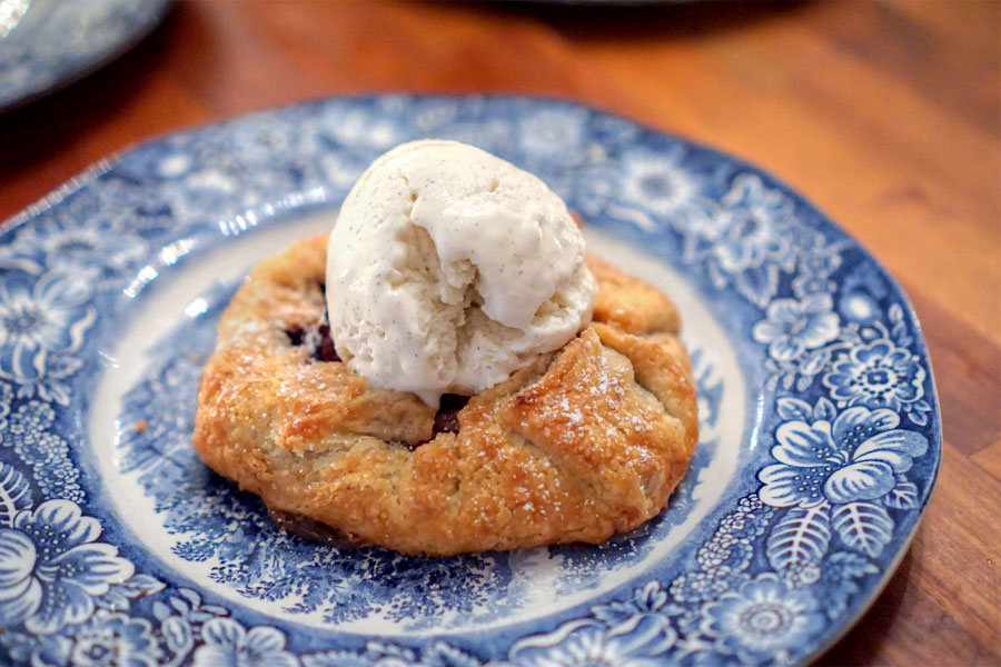 Blueberry - Pecan Galette