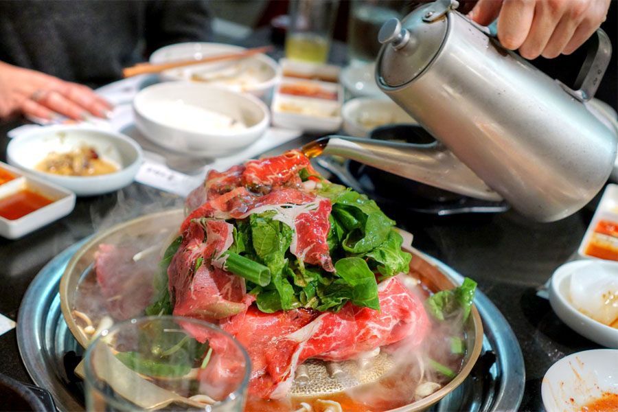 Seng Bulgogi (Pouring Broth)
