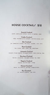 Kettle Black House Cocktail List