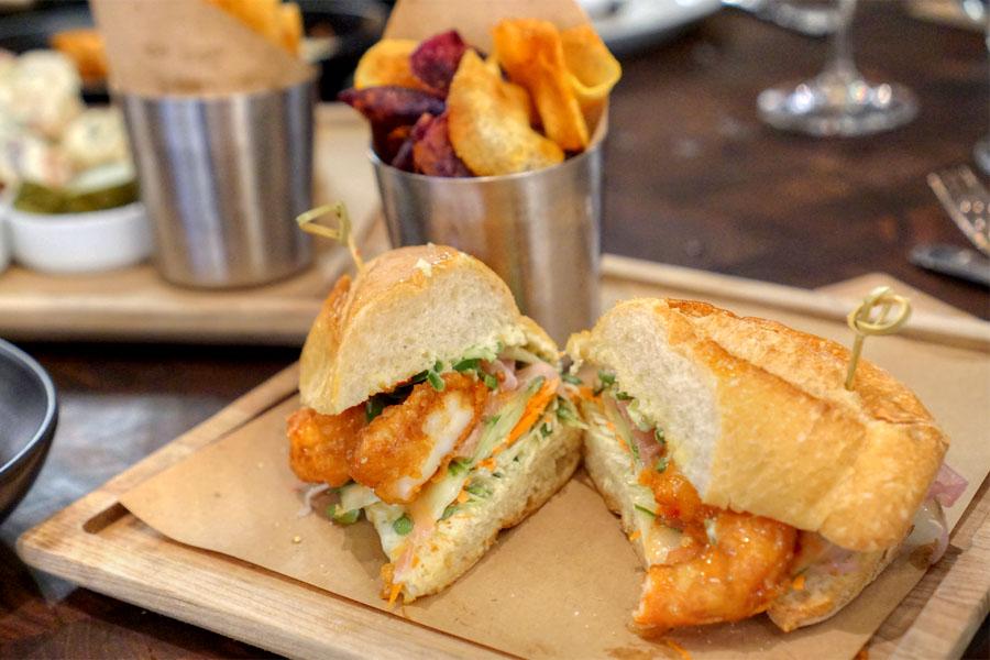 Wild Jumbo Shrimp Bánh Mì